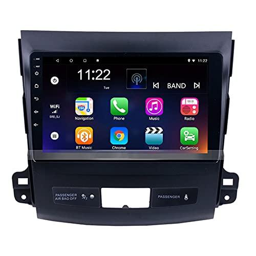 Android 10.0 9 Pulgadas Radio Satelital Para Automóvil Reproductor Multimedia Autoradio Navegador GPS Para Mitsubishi Outlander 2006-2012 Soporte WiFi Bluetooth/Control Del Volante(Color:WIFI 4G+64G)