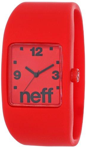Neff NF0205RDS - Reloj analógico Unisex, Correa de Silicona Color Rojo
