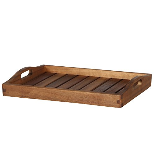 Siena Garden Tablett Astoria, 40x30x6,5cm, Gestell: Akazienholz, geölt in natur, Fläche: Akazienholz in natur,, FSC 100%