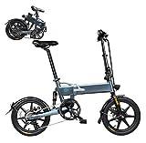 Coolautoparts Bicicleta Eléctrica Plegable 16 Pulgadas Bicicletas Bici de Ciudad/Montaña 250W 25km/h Ciclomotor de 3 Niveles Bateria de Litio de Aluminio Display LED para Adultos[EU Stock]