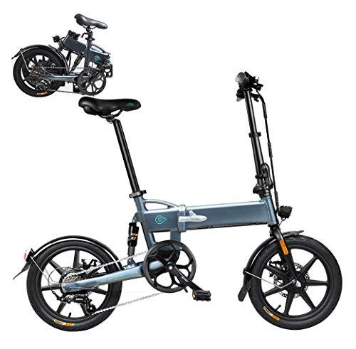 Coolautoparts Bicicleta Eléctrica Plegable 16 Pulgadas Bicicletas Bici de Ciudad/Montaña 250W 25km/h...