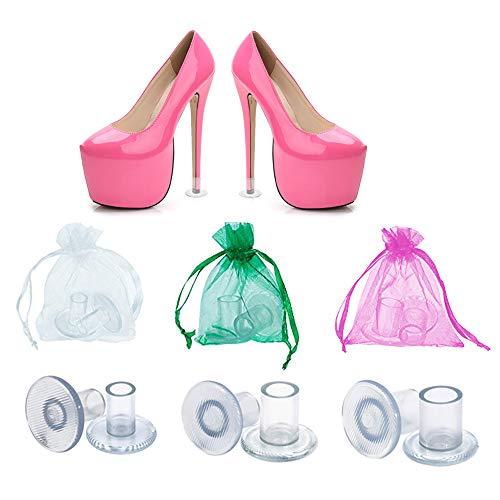 Amison Salvatacchi Proteggi Tacchi Donna 30 Paia Trasparenti, Proteggi Scarpe Tacco a Spillo Erba per Matrimoni, Occasioni Formali, Dimensione S M L