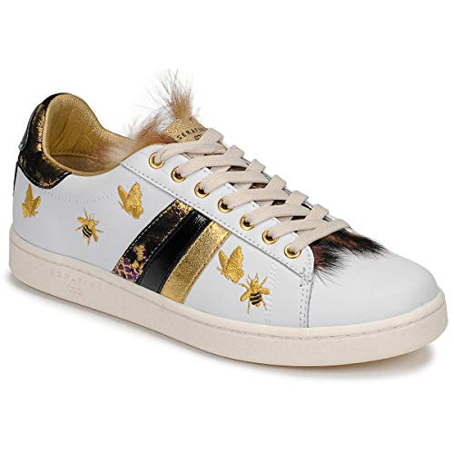 Serafini J.Connors Sneaker Damen Weiss - 38 - Sneaker Low Shoes