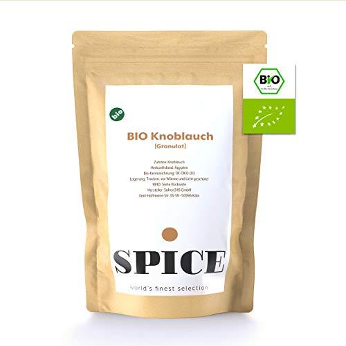 Bio Knoblauch Pulver (granuliert) - 250g Knoblauchgranulat aus Ägypten, intensiver Geschmack & einfache Aufbewahrung, aromatisches Knoblauchpulver für zahlreiche Rezepte