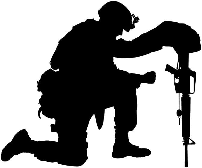 Posterazzi PSTZAB103459MLARGE Silhouette of i New Orleans Mall Soldier Direct store Kneeling a