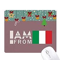 私はイタリアから ゲーム用スライドゴムのマウスパッドクリスマス