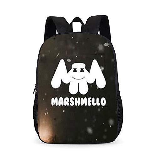 Marshmallow Schultasche mysteriöse elektronische Musik DJ Rucksack Rucksack Schüler Schultasche-Marshmallow_11_17 Zoll