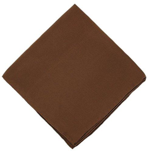 Un mouchoir en soie marron unie Michelsons