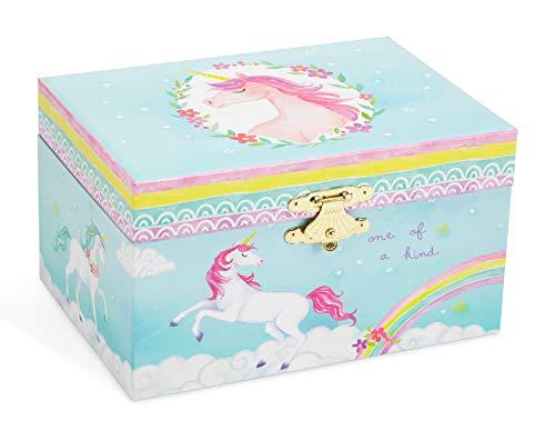 Jewelkeeper Girl's Musical Jewelry Storage Box with Spinning Unicorn, Rainbow Design, The Unicorn Tune 5