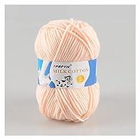 かぎ針編みの糸 10ピースミルクコットン編み糸の柔らかい暖かい赤ちゃんかぎ針編みのための編まれた糸くずの編まれた糸線の針仕事のためのニットヤーン (Color : Khaki)