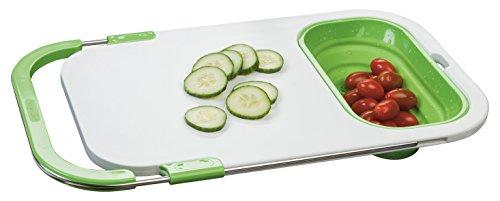 Prepworks by Progressive Thinstore Over-the-Sink Prep Station, PCB-3520, Meal Prep, Collapisble Colander, Patented