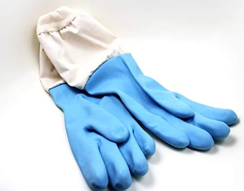 Top Imkerhandschuhe - Latexhandschuhe mit Stoffstulpe, speziell für Imker, säureresistent, TÜV geprüft