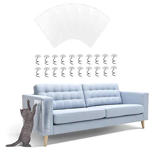 QIMMU 6 Pièces Protecteur de Rayure de Chat,Protecteur de Meubles Chat,Protection Canape Chat,Protection Anti Griffe Chat Canapé pour protéger Les Meubles