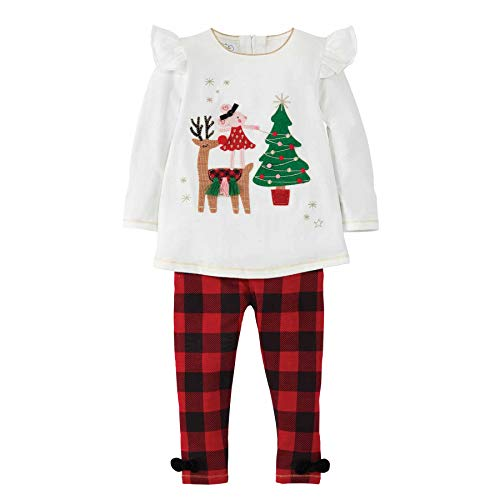 Mud Pie Baby Girls' Reindeer Mouse Tunic Legging, Cream, 9-12 Months