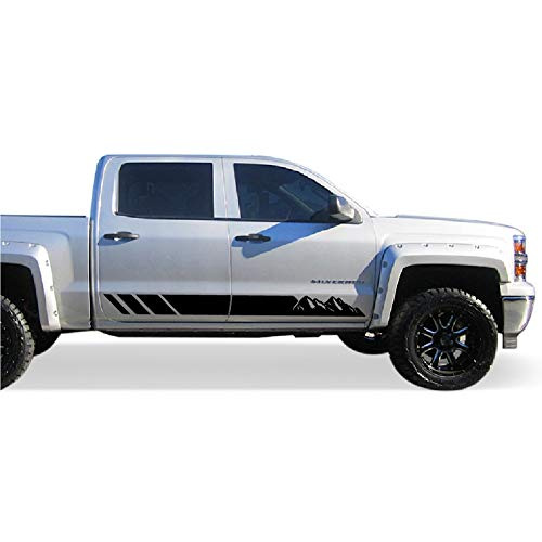 Bubbles Designs Decal Sticker Vinyl Side Stripe Kit Compatible with Chevrolet Silverado 2014-2017 High Country