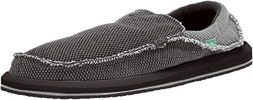 Sanuk Men's Chiba Sidewalk Surfer Shoe (14 D(M) US, Black/White)