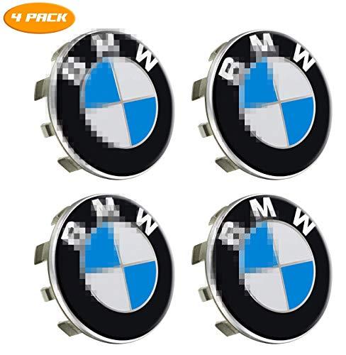 4X 68MM Chrome ABS Wheel Center Hub Cap Covers Fit 65MM Domed Emblem Sticker