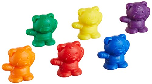 School Smart Backpack Bear Counters, 6 Colors, 300 Pieces