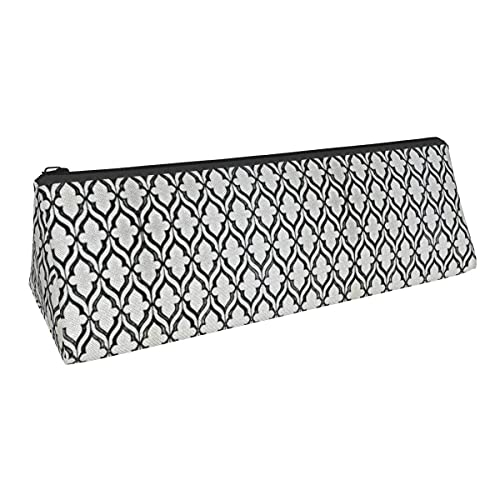 Bolsa de almacenamiento para bolígrafos con diseño de azulejos de pequeña capacidad, para niños, niñas, universidad, escuela, oficina, alicates de papelería