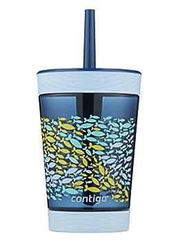 Contigo 2076700 Spill-Proof Kids Tumbler 14 oz Nautical Blue 14 Ounce