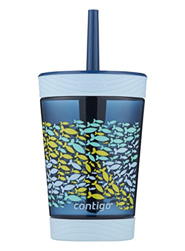 Contigo 2076700 Spill-Proof Kids Tumbler, 14 oz, Nautical Blue, 14 Ounce