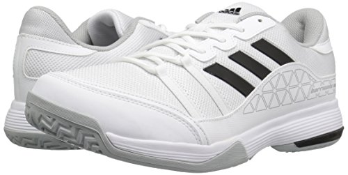 adidas Men's Barricade Court Wide Tennis Shoes, White/Black/Light Onix, ((9 W US)