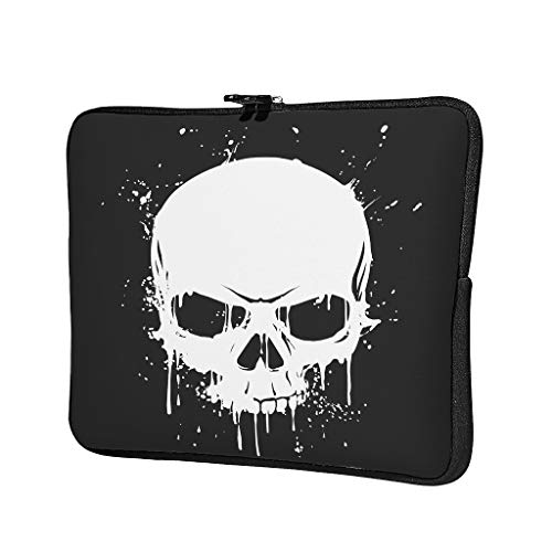 Skull Coating Abrasion Resistant Waterproof High Capacity Laptop Bag Hand Bag Laptop Messenger Bag for Business Trip for Men Women White 15 Zoll