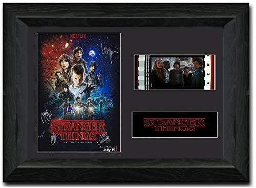 Stranger Things S2 signiert Atemberaubende Kult Retro 35 mm Filmzelle, gerahmt Display