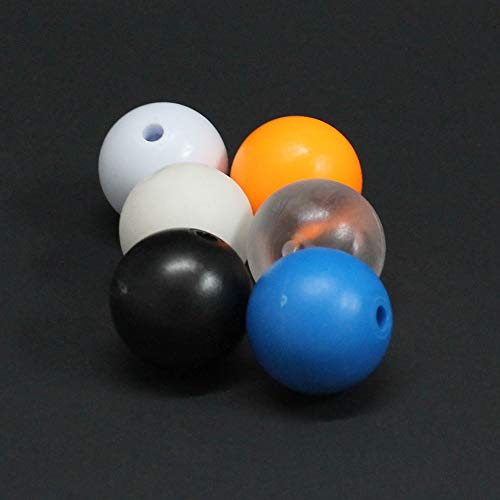 YoYoFactory Yo-Yo Counterweight Set - 6 Pack - 1 Rubber and 5 POM Commando 5A YoYo Balls (Multi Color - Orange, White, Black, Clear, Blue)
