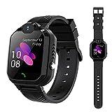 LTAIN Kids Smart Watch Waterproof Smartwatch GPS SOS Camera Timer (Black)