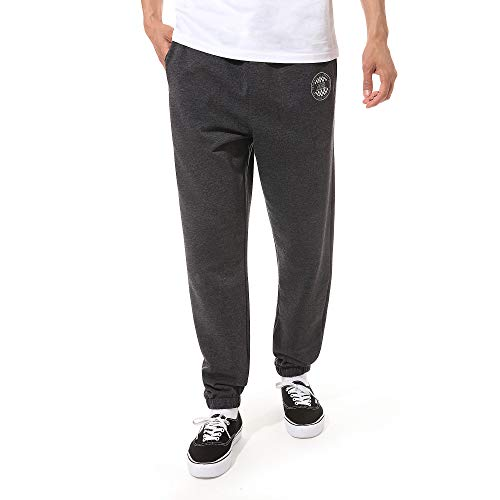 Vans Og Checker Fleece Pant Pantaloni Sportivi, Grigio (Black Heather Bhh), W32/L32 (Taglia Unica: Medium) Uomo