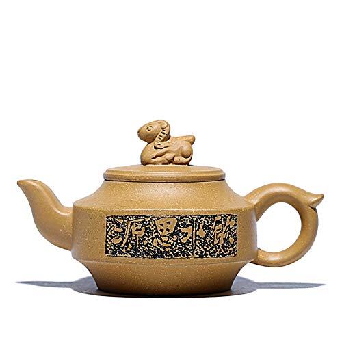 XueQing Pan theepot erts Segment modder 150ml theepot Handgemaakte drank uit de bron Geel