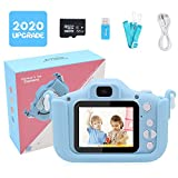 Tresbro Kids Camera, 20MP Rechargable Toddler Cameras with Dual Lens, 2 Inches IPS Screen Shockproof Mini Digital Camera, 32G SD Card, Video Camera for Toddler/ Young Child 3-10 Years Old, Light Blue