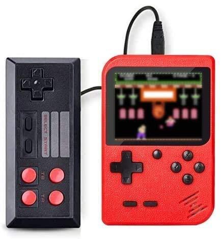 SeeKool Console di Giochi Portatile, Console di Gioco Retro FC LCD Classico da 3,0 Pollici 400 Classic Giochi, TV Output Videogioco Ricaricabile per Genitori dei Bambini Amici (Rosso)