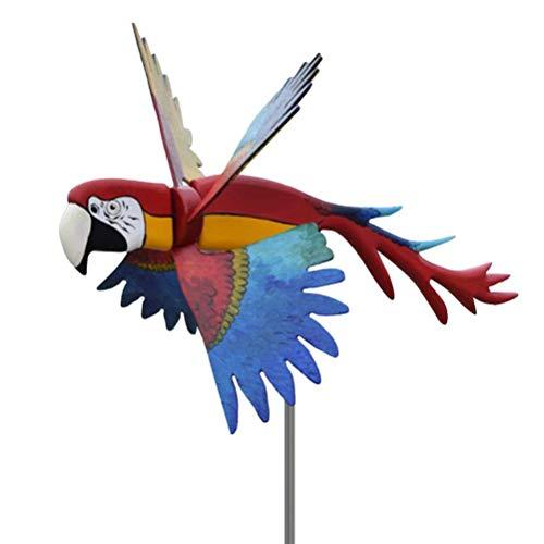 Sculture di uccelli eoliche, girandole, girandole 3D per uccelli girandole per giardino, mulini a vento per uccelli allaperto, mulini a vento artistici per giardinaggio ornamenti per prato inglese