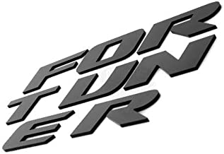 CarMetics - 9F-7OZI-RA5Z Fortuner 3D Letters for Toyota Fortuner Glossy Black - 3D Letters 3D Logo 3D Sticker fortuner Acc...