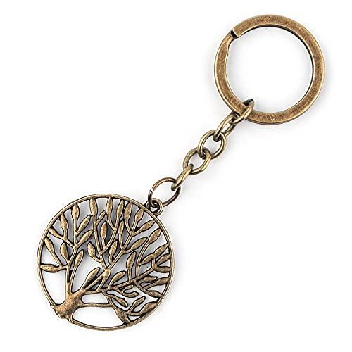 Llavero de aleación del árbol de la vida Llavero creativo del coche de la mochila colgante de la llave del teléfono móvil
