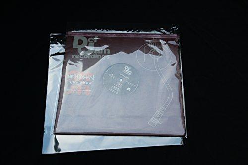 """200 Stück LP Schutzhüllen 12\"""" Folienhüllen mit Klappe und Verschluss für Vinyl Schallplatten"""