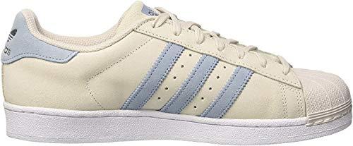 adidas Herren Superstar Sneakers, Grau (Pearl Grey/Tactile Blue/Tactile Blue), 45 1/3 EU