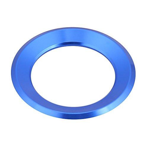 Keenso Auto Lenkrad Ring Lenkradabdeckung Trim Aluminium Chromlegierung Dekoration Aufkleber(blau)
