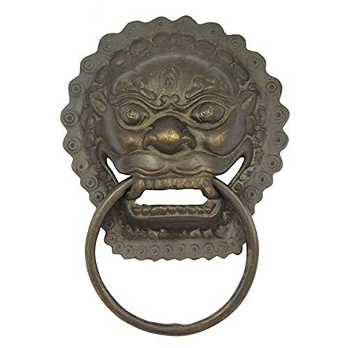 Knockers Antique Large Brass Door Hardware Gate, Lions Vordertürgriffe mit Schrauben, Outdoor Indoor