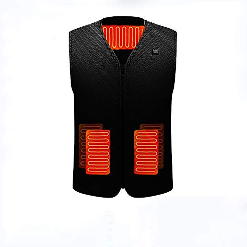 XNJHMS Heated Jackets Vest Smart Infrared Electric Charging Self-Heating Clothes Men and Women Winter Fishing Outdoor Warm Jacket,XXXL