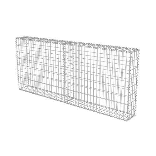 FTVOGUE- Gabionen für Pflanzsteine, Gavion Korb Metallgeflecht Stahl verzinkt 200 x 20 x 85 cm