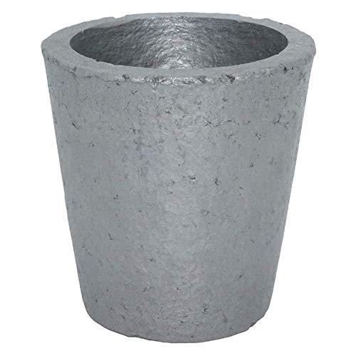 YHcXm Crisol de Grafito, refinación de fundición de Metal Dorado para lingotes de Hierro Fundido (5 kg de Cobre o 2 kg de Aluminio)