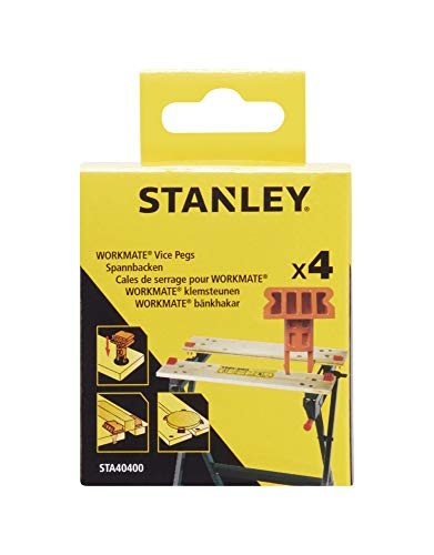 Stanley STA40400-XJ Spannelement (voor bevestiging aan de werkbank, compatibel met Black+Decker Workmate WM100, WM825, WM550, WM536 en WM301, 4 stuks)