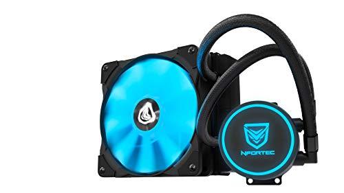 Nfortec Hydrus V2 Refrigeración Líquida 1200mm con Ventilador LED Blue de 120mm (Compatible con AMD e Intel) - Color Azul
