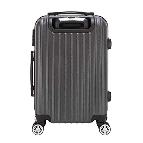 20''waterproof Spinner Luggage,Large Capacity Suitcase Bag,Hardside Expandable Luggage With Rolling Wheels For Travel Business Gray