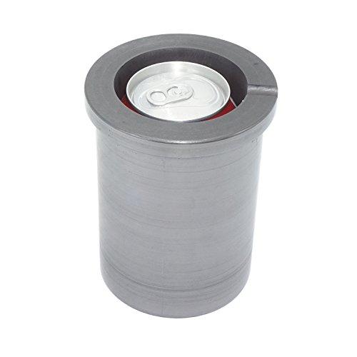Reingrafit-Tiegel für Schmelzen von Metall, Gießen von Gold und Silber, Kokille mit herausgearbeiteter Gießrille
