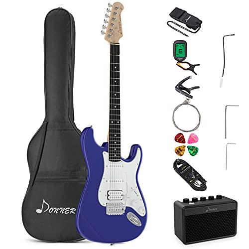 Donner Kit de Guitarra Eléctrica Stratocaster de...