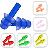 Bememo 6 Pairs Ear Plugs Noise Cancelling Reusable Earplugs for Kids Adults Sleeping and Swimming